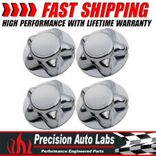 """7"""" Chrome For 97-04 Ford F150 Expedition Center Hub Cap With 5Lug Steel Wheel x4"""