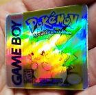 1 HOLO GAME BOY BOX ART CUSTOM SPECIAL PIKACHU EDITION GBC CARTRIDGE LABEL