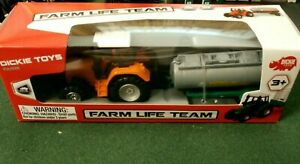 NEW Farm Life FUN Team die cast Metal Tractor and Plastic Tank - Dickie Toys