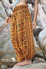 Harem Elephant Pants Hippie Yellow Yoga Festival Aladdin Gypsy Loose Boho Comfy
