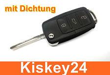 3Tasten Ersatz Auto Klappschlüssel mit Gummidichtung für VW AUDI SEAT SKODA
