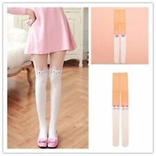 Sweet Cats Printed Pantyhose White Stockings Tights Lolita Japanese Girl's Socks