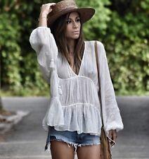 Zara Boho Short Tunic With Embroidery in ecru Size L BNWT Bloggers favorite