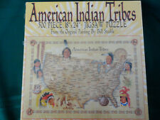 NEW Vintage 1988 Master Pieces American Indian Tribes Map 500 Piece Puzzle