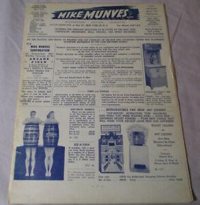 Original 1957 MIKE MUNVES Catalog Amusement Vending Music Machines 28 Pages 1560