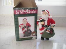 "Santa figure fabric mache hand crafted 7"" Santa Clause Santa's collection NICE"