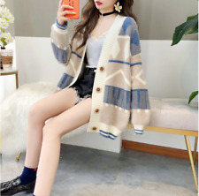Women's fashion sweater autumn thickened outer wear knitted cardigan jacket NEW