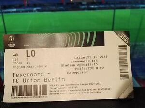 VIP TICKET UEFA Europa Conference League 2021/22 Feyenoord - Union Berlin