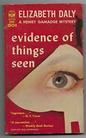 Evidence of Things Seen by Elizabeth Daly [1962 Berkley 1st pb, Henry Gamadge]