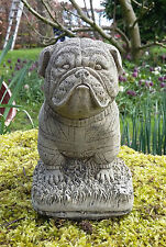 STONE GARDEN BRITISH BULLDOG DOG WITH BRITISH FLAG PUPPY ORNAMENT