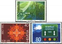Schweiz 1184-1186 (kompl.Ausgabe) postfrisch 1980 Jahresereignisse