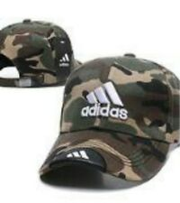 9152f69c Embroidered Adidas 3 Stripes Strapback Baseball Cap Camo #3: One Size Fits  Most