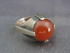 schöner alter Ring Silber signiert Carneol ca. 50er Jahre