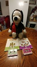worlds of wonder red barron snoopy story teller, includes storybooks and taps