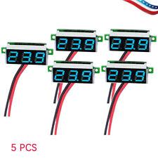 5PCS Mini Blue DC 3.5-30V LED Display Digital Voltage Voltmeter Panel US
