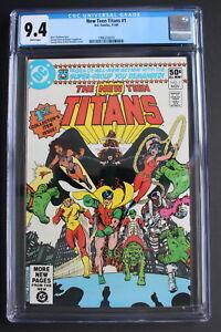 NEW TEEN TITANS #1 1st Solo Series GEORGE PEREZ New 1980 DC TV Series CGC NM 9.4