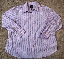 Men's Chaps Classics Long Sleeve Full Button Dress Collar Shirt 2XL