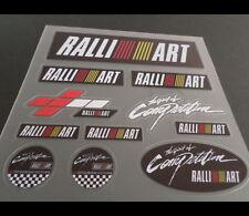 MITSUBISHI RALLIART EVO RALLY Lancer evolution Car interior Small Stickers #02