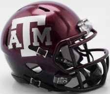 TEXAS A&M AGGIES Riddell Revolution SPEED Mini Football Helmet NCAA