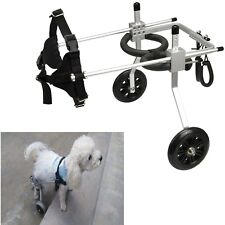 Lightweight Aluminum Cart Pet/Dog Wheelchair For Handicapped Small Pet Dog/Cat