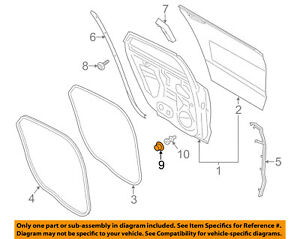 FORD OEM Rear Door-Seal 3M8Z5423550A