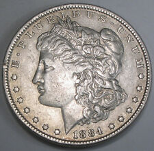 1884 P  Morgan Silver Dollar - Bright and evenly toned coin in nice condition
