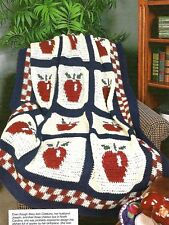COUNTRY Red Delicious Afghan/CROCHET PATTERN INSTRUCTIONS ONLY