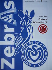 Programm 1999/00 MSV Duisburg Am. - Fortuna Düsseldorf II