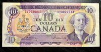 1971 $10 BANK OF CANADA BOUEY RAMINSKY PREFIX:DV - V.F+ COND!