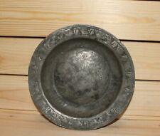 Antique folk hand made tinned copper bowl