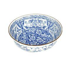 Andrea by Sadek Blue and White Floral Design Bowl - Excellent