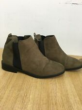 Ladies Size 4  Khaki Primark Wide Fit Ankle Winter Boots Low Heel