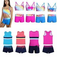 Kids Girls Swimsuit Swimwear Bathing Bikini Tankini Set Beachwear Bathing Suit