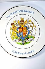 The Queen's Silver Jubilee 1977 H.M. Tower of London decorative plate
