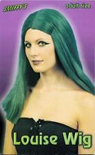 Una femmina adulta Donna Halloween Costume Strega Parrucca Verde Scuro