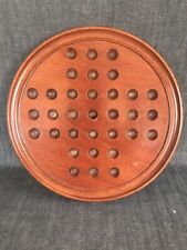 Antique Victorian Treen Mahogany Solitaire Board