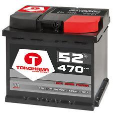 Autobatterie 52Ah +30% mehr Power Starterbatterie statt 44Ah 45Ah 46Ah 47Ah 50Ah