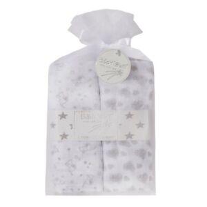 2 PACK   Baby muslin Blanket design on 100% Muslin Cotton - Cloth cute