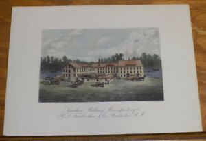 c1880 Print///LEATHER BELTING MANUFACTORY, PAWTUCKET, RI, FAIRBROTHER $ CO.