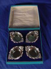 4 BIRKS Sterling Salt Cellars/But Dishes W/BOX