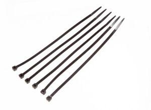 Lot De 200 Câble Noir Attache Zip Bracelet Nylon 20.3cm 200mm