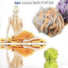 Shower Puff 6pcs Body Bath Exfoliate Puff Sponge Mesh Net Ball Soft Comfortable