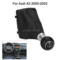 5 Speed Gear Shift Knob Gear Stick Gaiter Boot Kit For Audi A3 2000-2003 U2F9