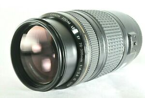 Canon EF 70-300mm f/4-5.6 IS USM Zoom Lens - with covers, good used condition
