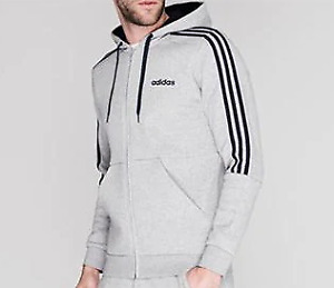 Adidas 3 Stripe Track suit Hoodie Jumper Running MENS UK XL #Ref123