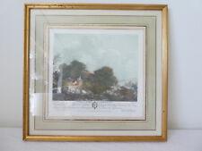 Ancienne Gravure couleur ANETTE a L'AGE DE QUINZE ANS de Francois GODEFROY