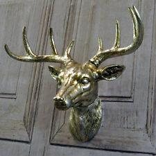 28cm Color Plata Deer Stag Stags Cabeza de Animal Decoración Para Colgar En Pared Arte