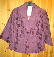 Button Waist Length Silk Formal Coats & Jackets for Women