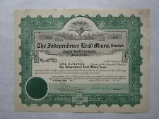 The Independence Lead Mines, Limited   A 1915 Idaho Corporation