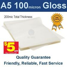 A5 Laminating Pouches Film 100 Micron Gloss (PK 100) -Buy 2 packs get $5 off